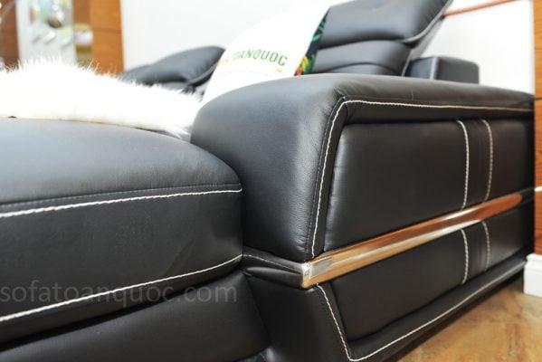 sofa da microfiber màu đen