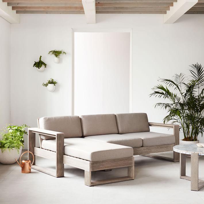 sofa góc chữ L bằng gỗ đệm