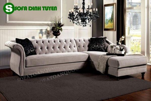 Màu sắc đẹp, tinh tế, sang trọng và đẳng cấp của mẫu sofa bọc vải phong cách tân cổ điển