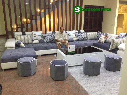 sofa phòng khách rộng chữ U