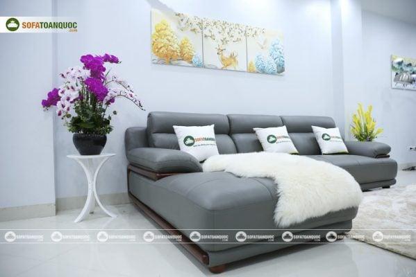 sofa da góc microfiber