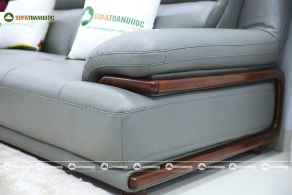 sofa khung viền gỗ chắc chắn