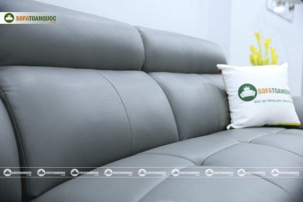 sofa bọc da đệm pha cao su sfd11