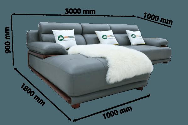 kích thước sofa góc trái