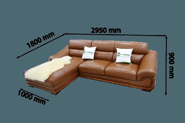 sofa da sfd10 cho phòng khách nhỏ