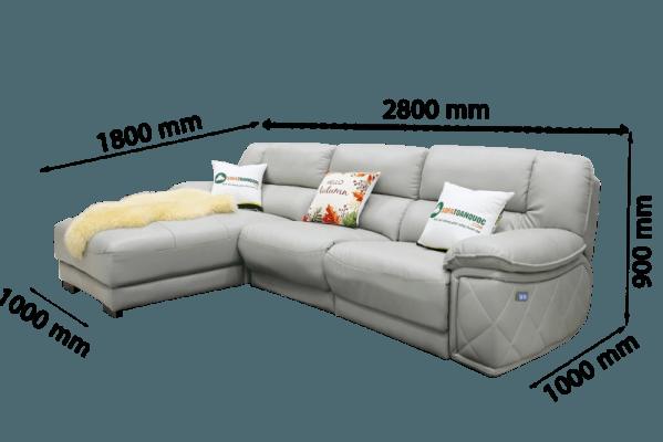 Với kích thước nhỏ kết hợp với sofa góc chữ L nên phù hợp với nhiều không gian chung cư, phòng khách nhỏ