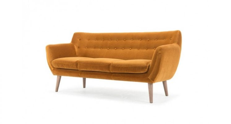 bộ ghế sofa màu cam