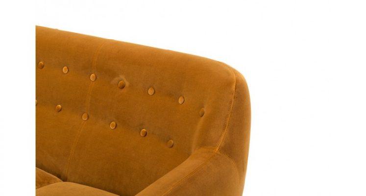 bộ ghế sofa vải màu cam