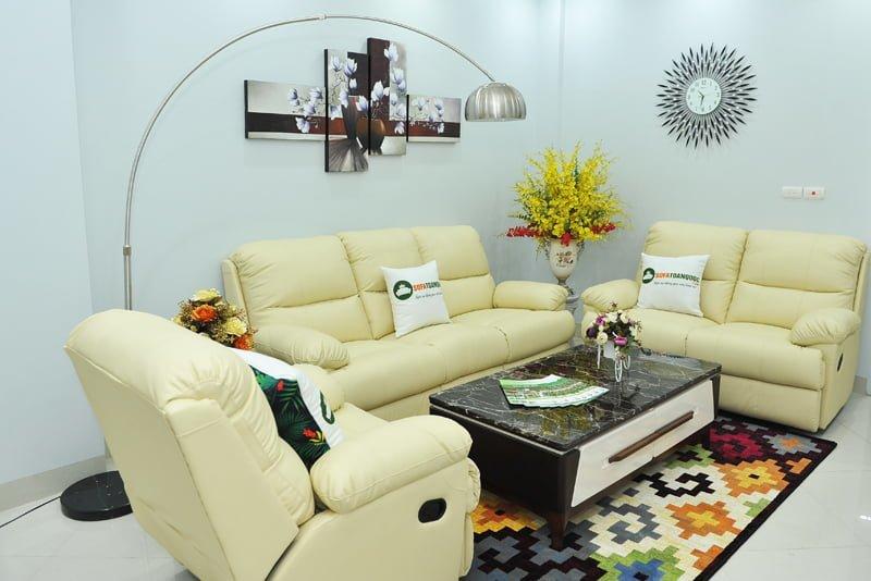 bộ ghế sofa 3 món 1 2 3 cho phòng làm việc giám đốc