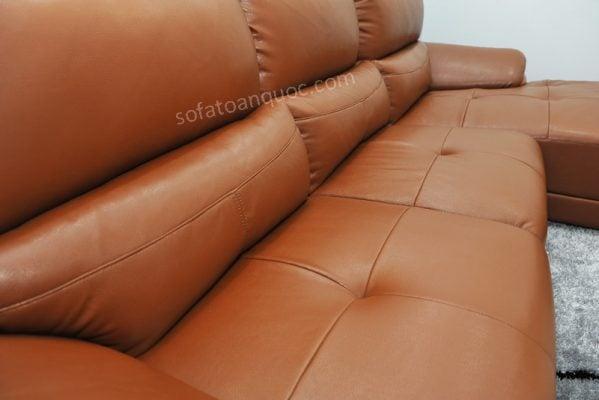sofa da màu nâu sang trọng và đẳng cấp