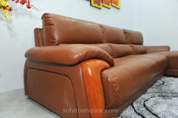 sofa da microfilber màu nâu đẹp