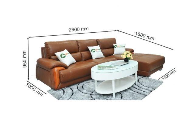 Kích thước nhỏ gọn với chiều dài 2,9m, sâu 1,8m và cao 0,95m