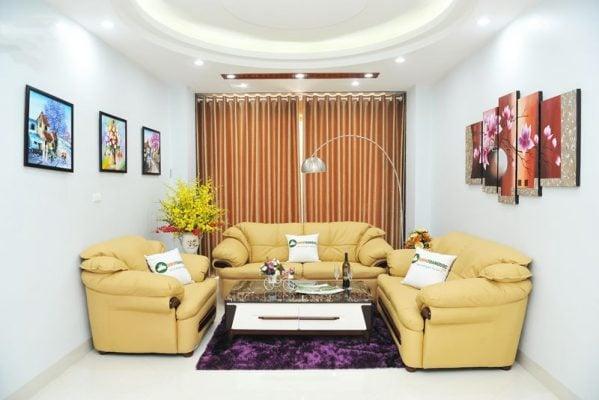 Màu nude tinh tế, giúp bộ ghế không bị lộ quá bẩn, rút ngắn thời gian vệ sinh và làm sạch