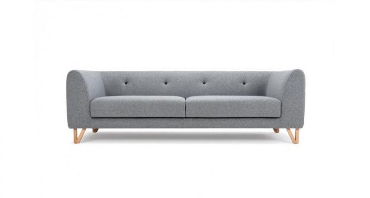 ghế sofa văng nỉ màu xám