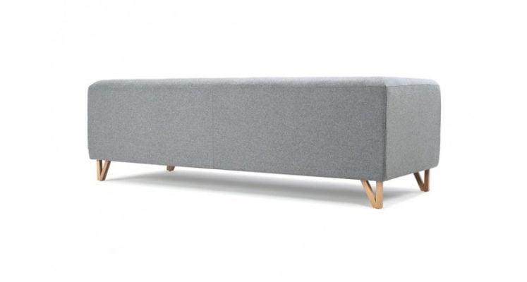 Mặt sau của ghế sofa văng nỉ màu xám SFN02