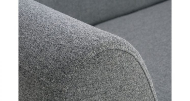 bộ ghế sofa văng bọc nỉ màu xám