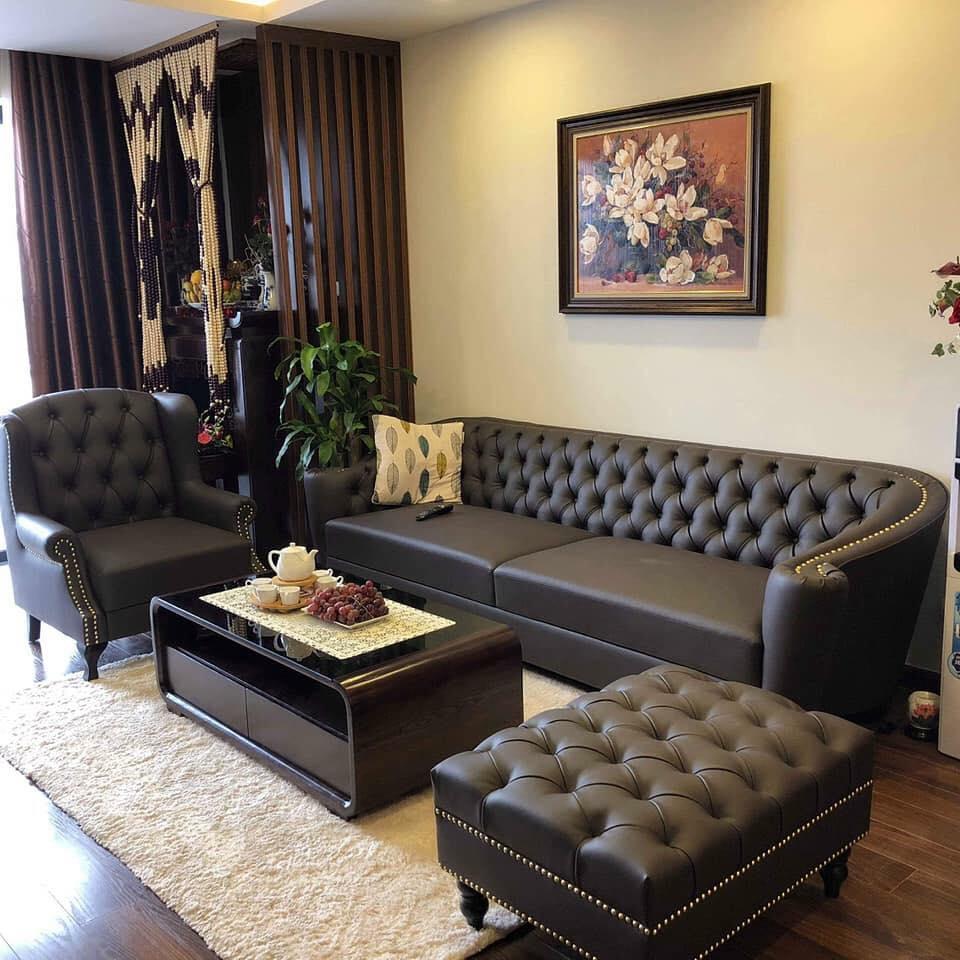 bộ ghế sofa màu đen cho phòng giám đốc