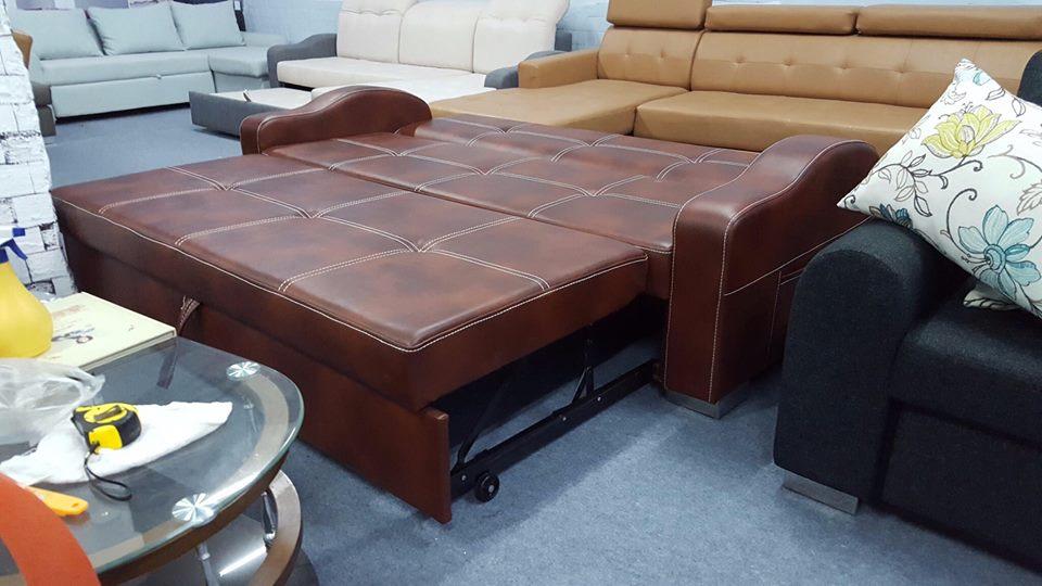 sofa giường bọc da đẹp và sang
