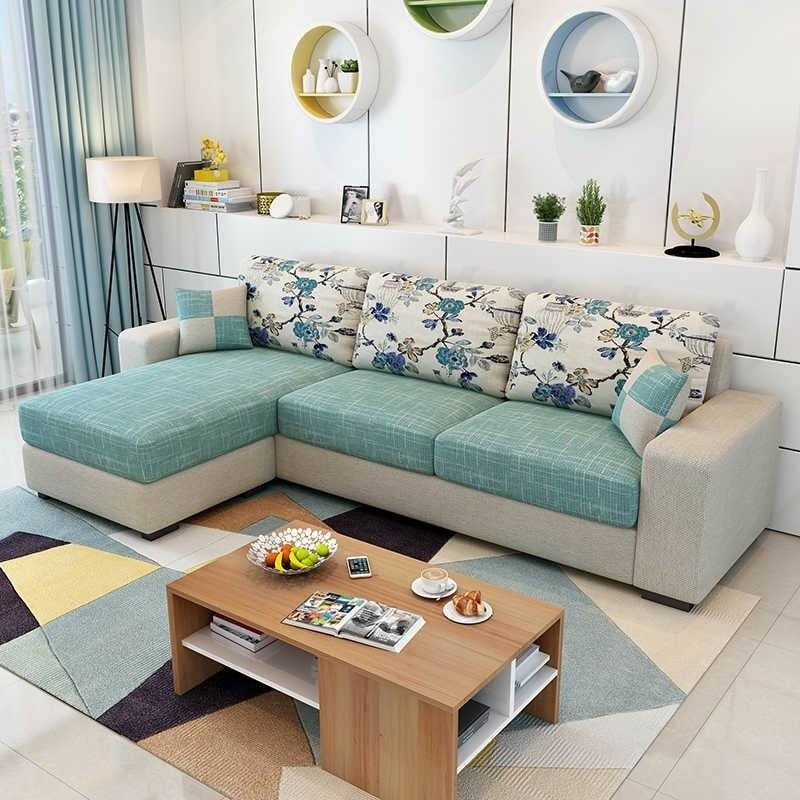 mẫu sofa góc bọc vải bố
