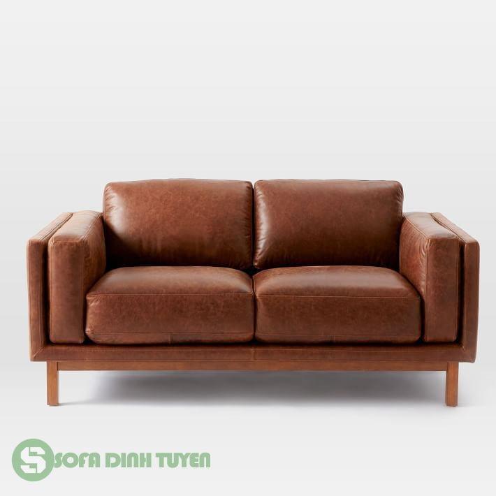 ghế sofa bọc da dài 1m7 2 chỗ