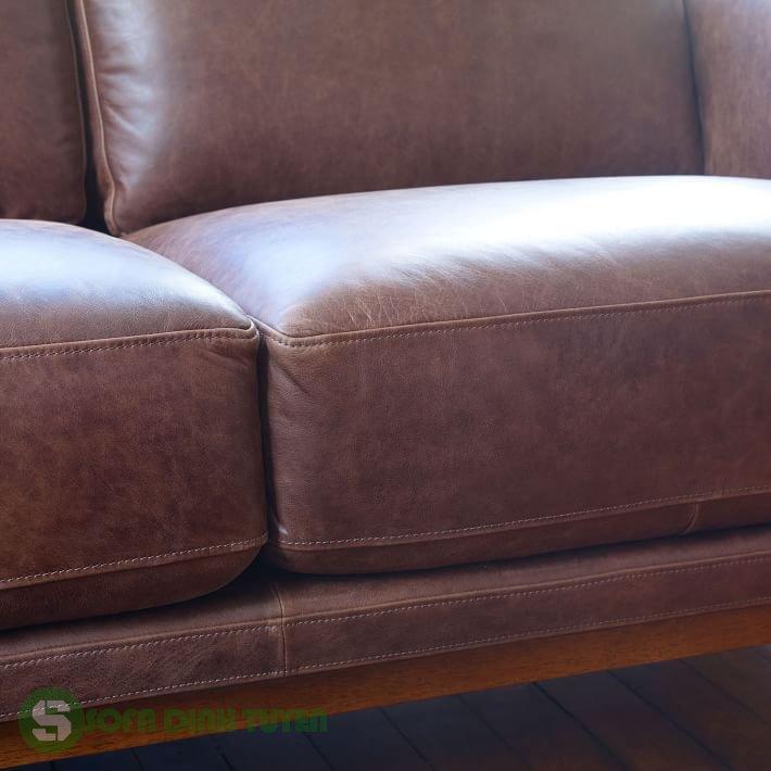 sofa bọc da đẹp kiểu dáng 2 chỗ