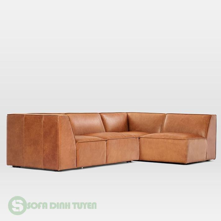 ghế sofa bọc da đệm liền