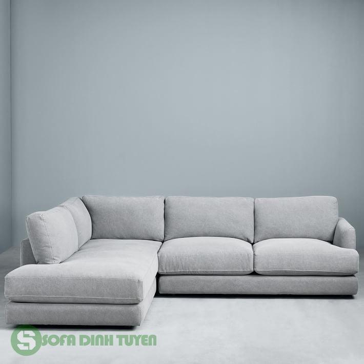 ghế sofa góc bọc vải màu xám