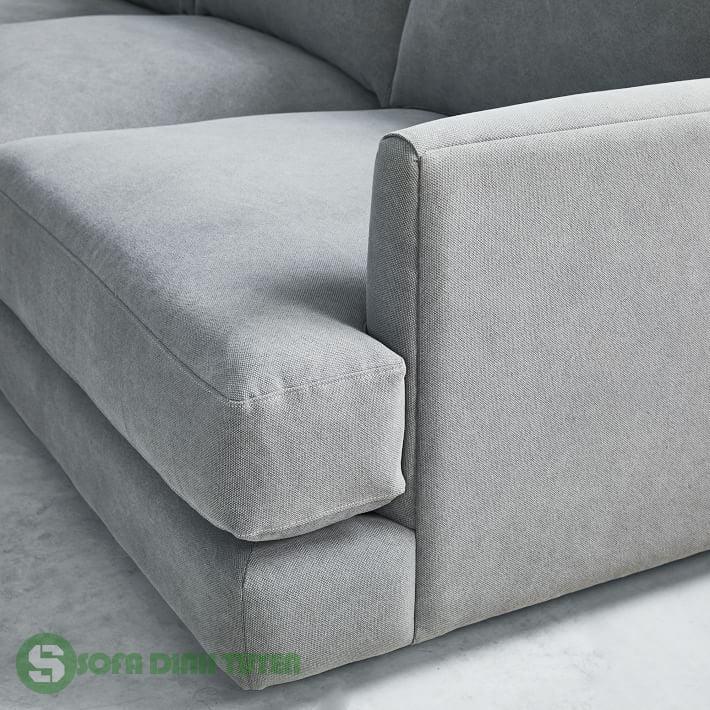 sofa góc màu xám đẹp