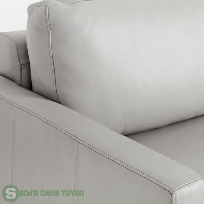 sofa bọc da phong cách hiện đại