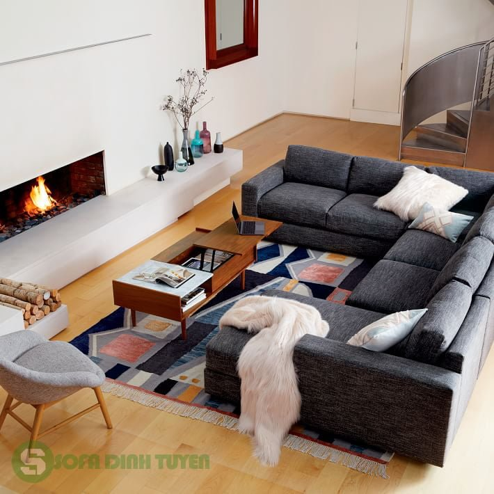 bộ ghế sofa nỉ phòng khách có thể tách rời