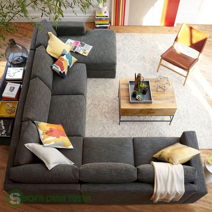 bộ sofa nỉ hiện đại trong phòng khách
