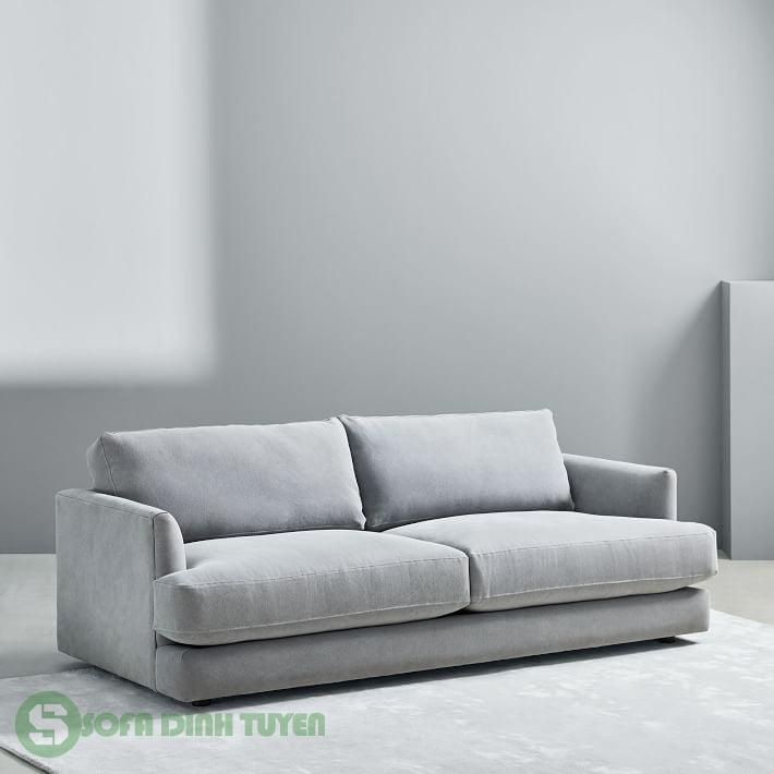sofa 2 chỗ màu xám phù hợp với chung cư