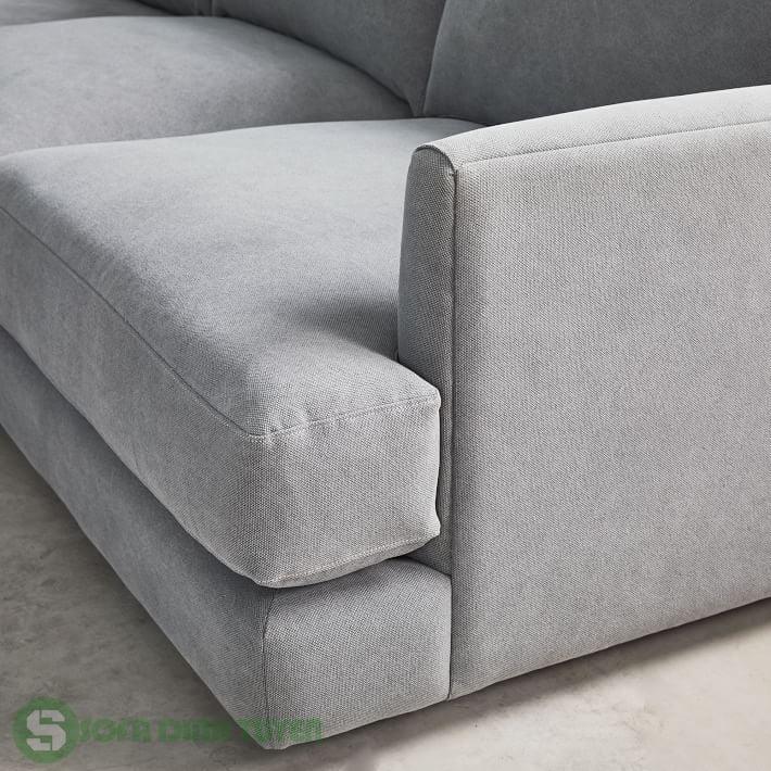sofa văng 2 chỗ màu xám