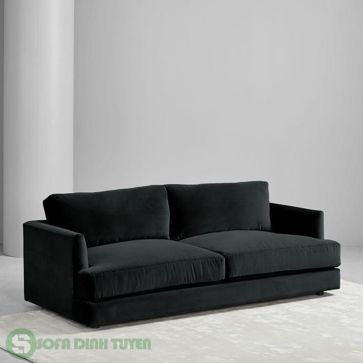 sofa vải nỉ màu đen