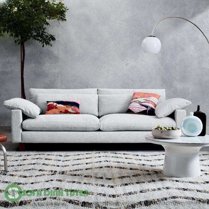 sofa văng 2 chỗ màu trắng