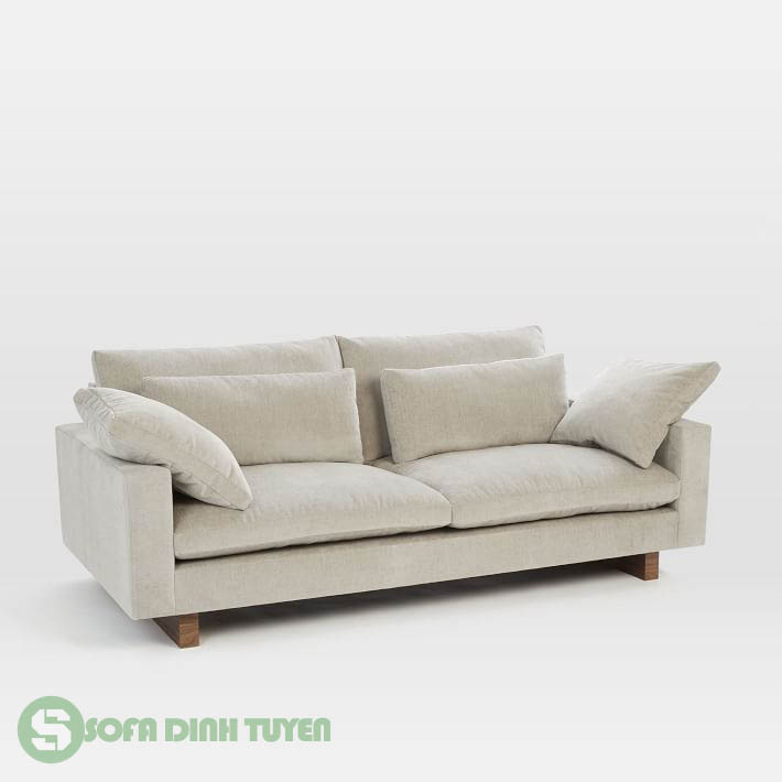 sofa vải nỉ màu trắng