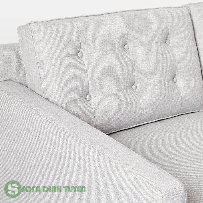 bộ ghế sofa bọc nỉ kỹ thuật may rút cúc