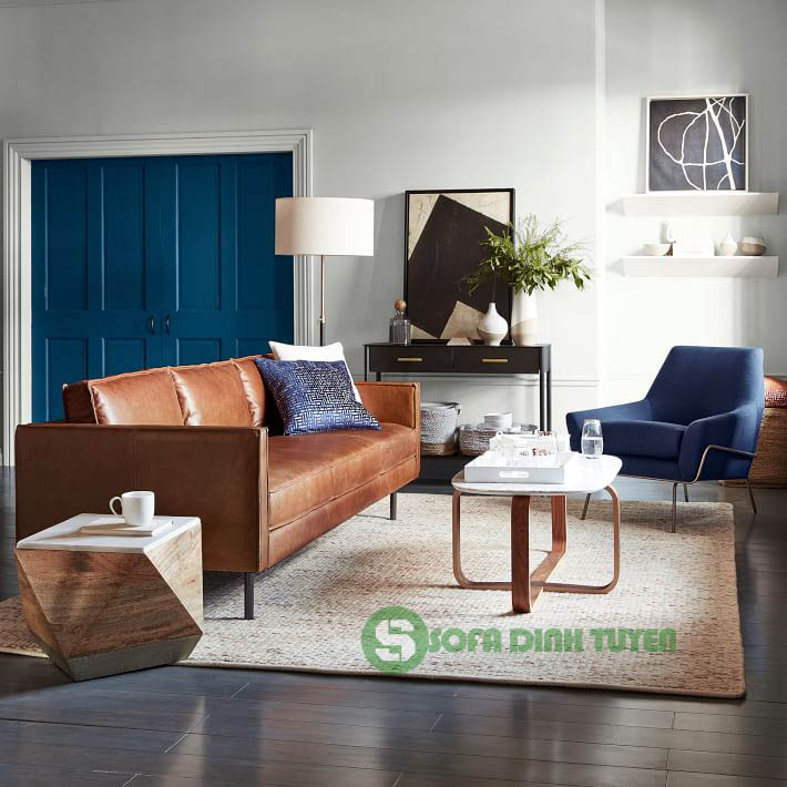sofa văng dài chân sắt