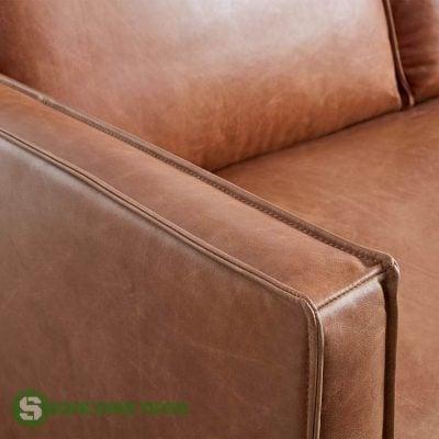 sofa da thật kiểu văng dài
