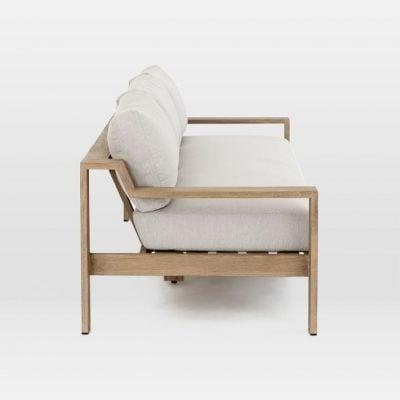 sofa văng 3 chỗ bọc vải bằng gỗ