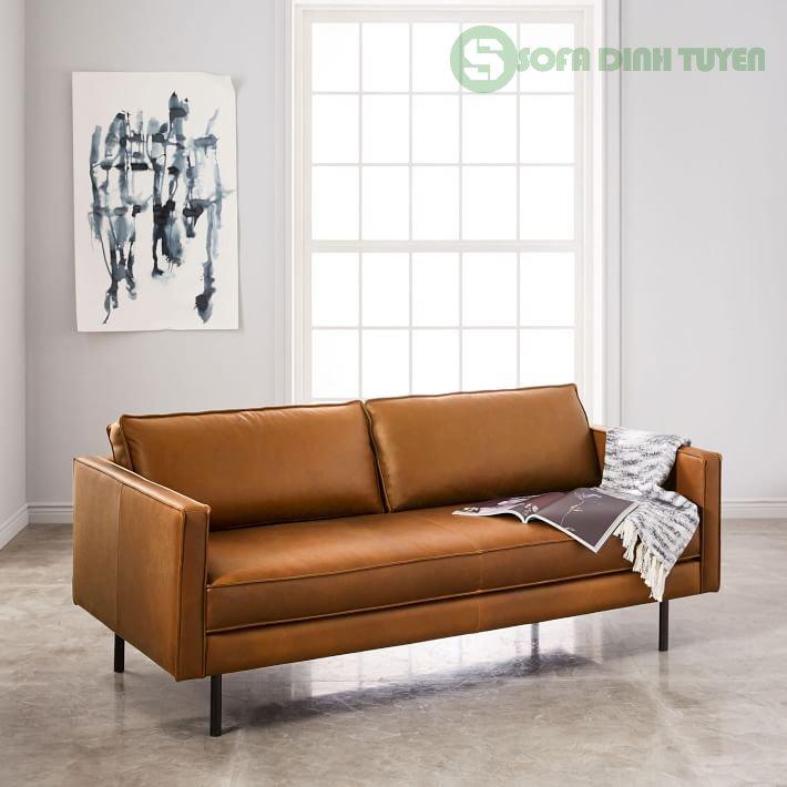 sofa da có phần đệm rời