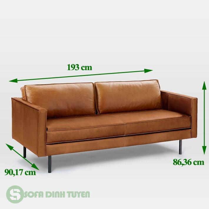 ghế sofa da kích thước 1m9