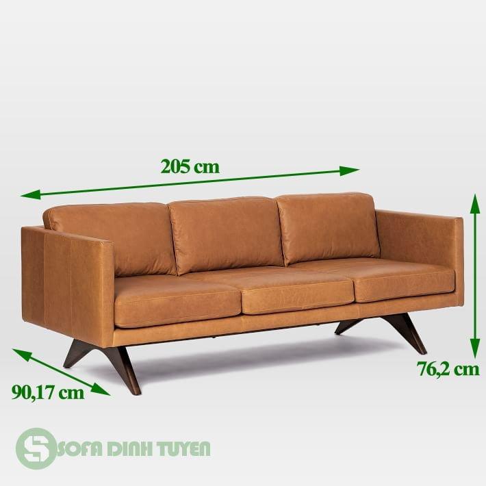 ghế sofa 3 chỗ dài 2m bọc da