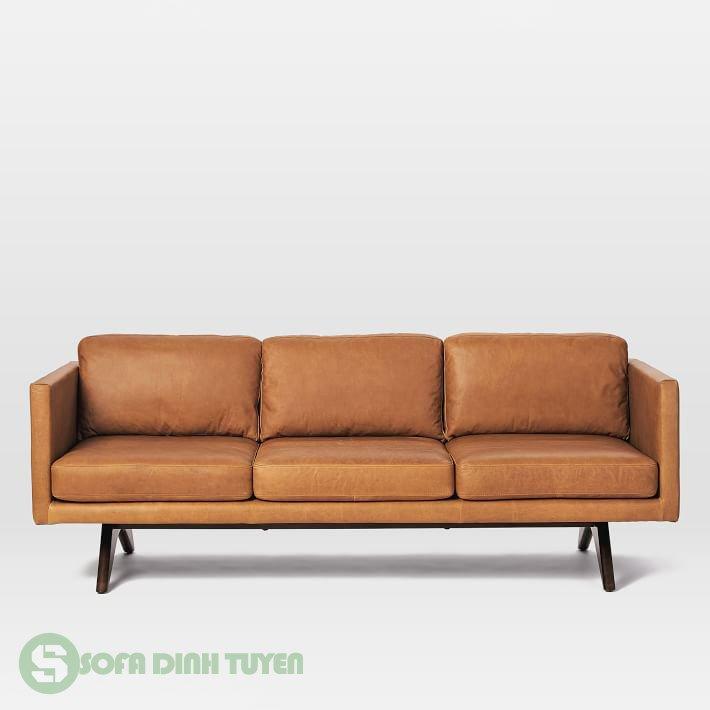 sofa bọc da đẹp kiểu dáng 3 chỗ