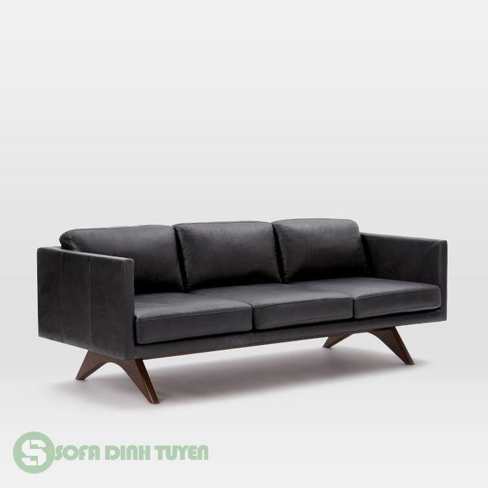 ghế sofa da màu đen đẹp 3 chỗ