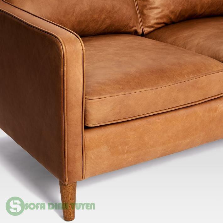 chân ghế sofa da sử dụng gỗ sồi