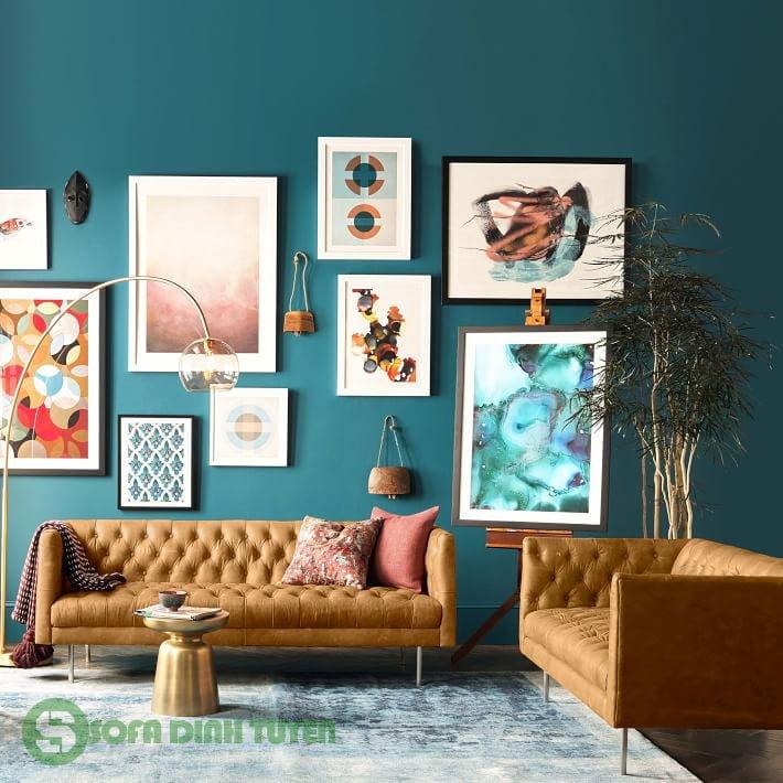 sofa tân cổ điển khi bài trí trong phòng khách