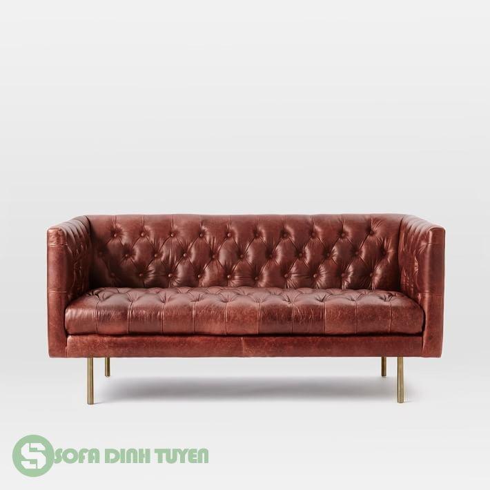 sofa tân cổ điển da thật đẹp