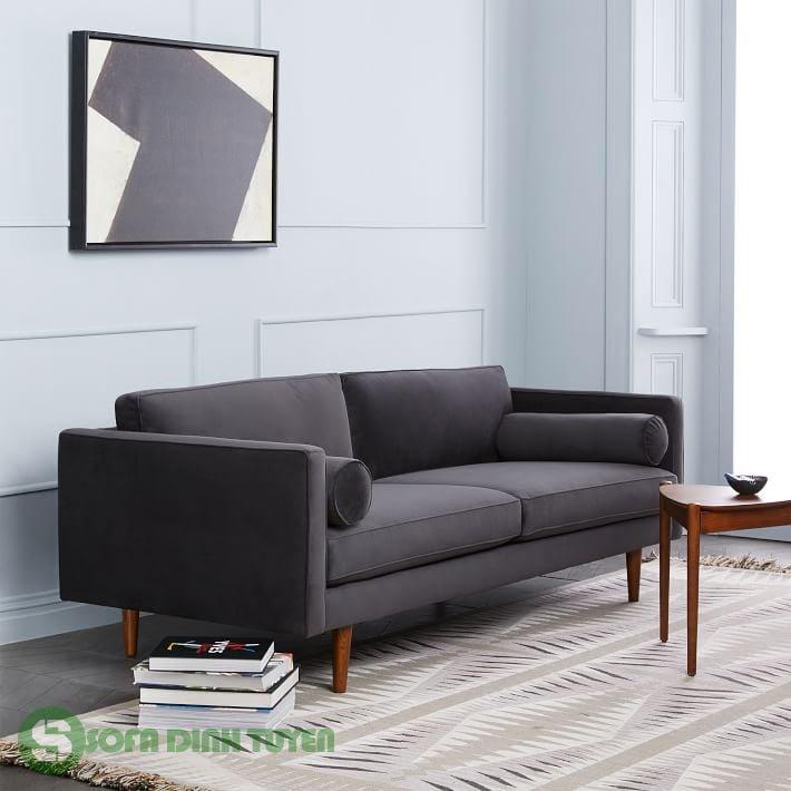 sofa văng 2 chỗ chân ghế gỗ