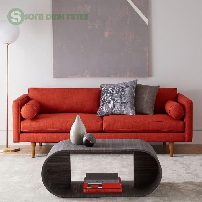 Sofa màu đỏ mang tới may mắn và tài lộc